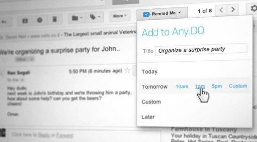 Snooze email. Turn emails to tasks.