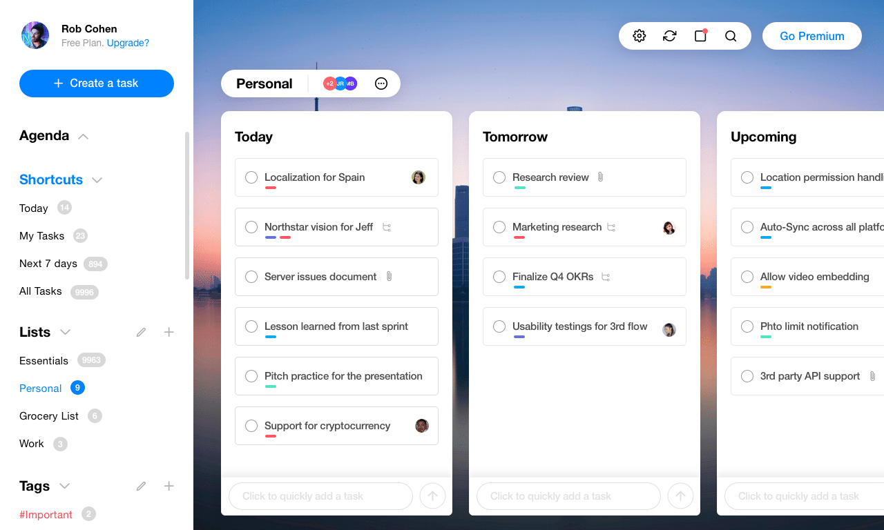 Sexy Redesign for Any.do's Web App